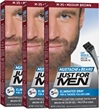 Just For Men Mustache & Beard, Beard Coloring for Gray Hair with Brush Included..
