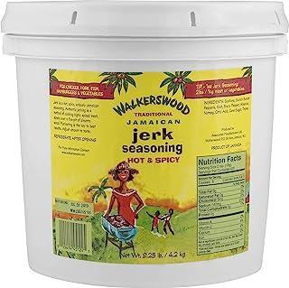 Walkerswood Traditional Jerk Seasoning, 9.25 lb. (4.2 kg.), Hot & Spicy Jamaican Jerk Seasoning, for Chicken, Pork, Fish, Hamburgers & Vegetables, Bulk Jerk Seasoning in Jumbo Can.