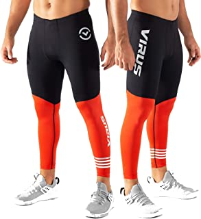 Virus Mens RX8.5 Stay Cool Compression Pants Black/Blood Orange