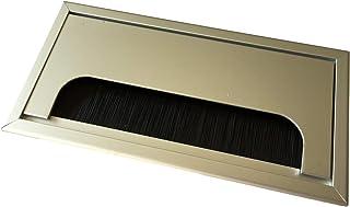 Gobesty Cavo per passacavo da scrivania Nero Foro 60mm Confezione da 10 PC Passacavo da scrivania per Computer in plastica Cavo ordinato Coperchio per Fori Organizer per Fili