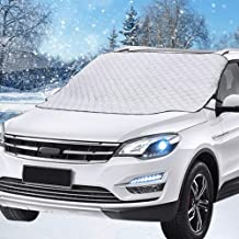 HEHUI Car Windshield Snow Cover,Car Sunshades for Windshield with Magnetic Edges Snow, Ice Defense No Scratches, Cotton Thicker Windshield Winter Cover Fits for Cars Trucks Vans and SUVs