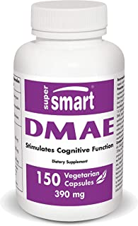 Supersmart - DMAE 390 mg Per Serving - Neuro Nutrition Boost - Supports Healthy Brain & Nervous System Function | Non-GMO ...
