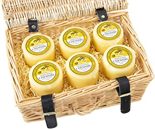 6 x Cheshire Creamy Traditional Cheese Wax Truckles 200g Wicker