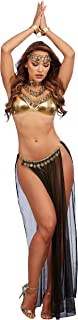 Dreamgirl Women's Bedroom Costume, Black/Gold, One Size