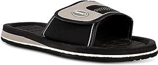 Fresko Shoes Men's Large Slide Sandals - Water Shoe for Beach Pool, Velcro