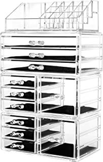 HBlife Acrylic Jewelry and Cosmetic Storage Drawers Display Makeup Organizer Boxes Case with 11 Drawers, 9.5