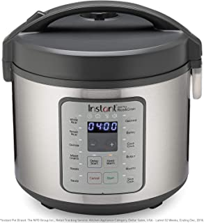 Instant Zest Plus Rice Cooker, Grain Maker, Saute Pan, Slow Cooker, and Steamer, 20 Cups, Cooks Rice, Quinoa, Oatmeal, Barley, Couscous, Bulgur, and Risotto