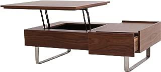 New Pacific Direct Denzel Walnut Veneer Lift-Top Coffee Table, Walnut/Gray