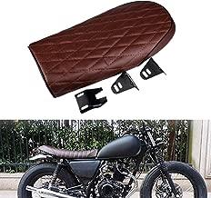 KaTur Motocross Grid Seat Motorcycle Retro Seat Cushion Moto Off-Road Dirt Bike for Honda Suzuki Kawasaki Yamaha SR400 GS CB