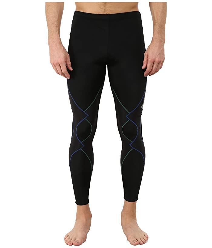 CW-X Expert Tight (Black/Green/Blue) Men