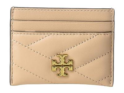 Tory Burch Kira Chevron Card Case (Devon Sand) Wallet Handbags