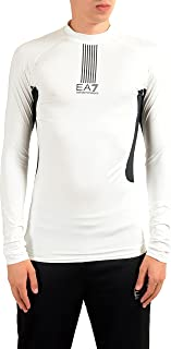 EA7 Tech M Men's White High Neck Long Sleeve T-Shirt US XL IT 54