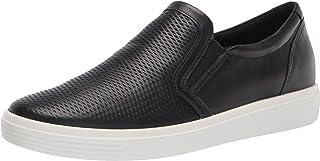 ECCO Women's Soft Classic Slip On Sneaker, BLACK, 5 M US