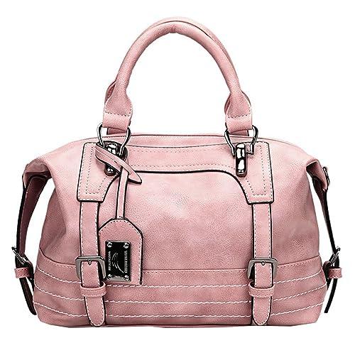 0ae0b5654 Juilletru Women Tote Bags PU Leather Handbags Top Handle Vintage Purse  Crossbody Shoulder Bag