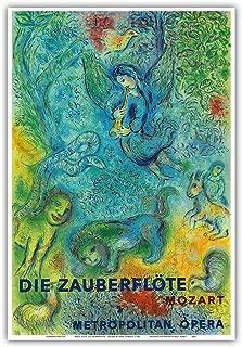 Die Zauberflöte (The Magic Flute) - Mozart - Metropolitan Opera - Vintage Concert Poster by Marc Chagall 1966 - Master Art Print - 13in x 19in