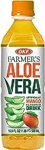OKF Farmer's Aloe Vera Drink, Mango, 16.9 Fluid Ounce (Pack of 20)