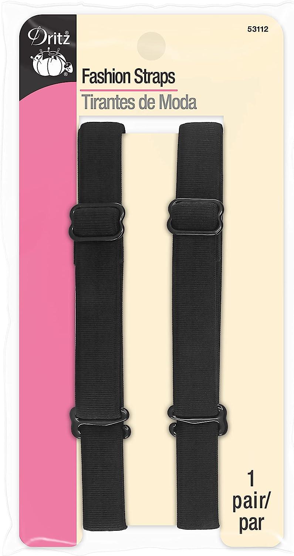 Dritz 53112 Detachable & Adjustable Fashion Straps, Black