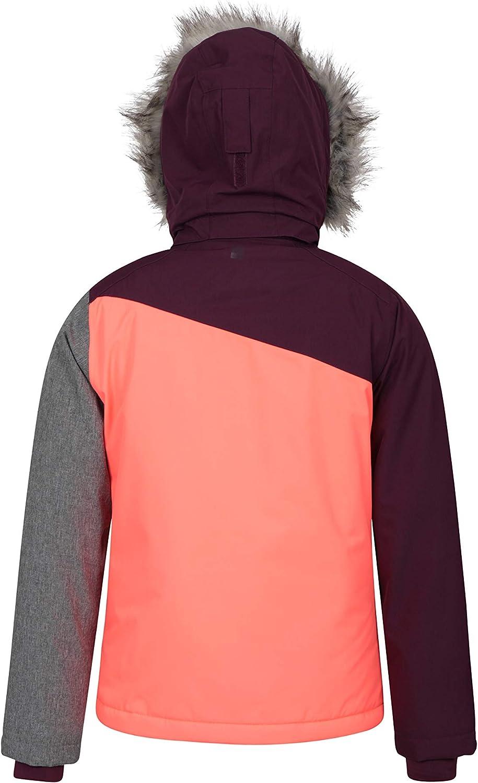 Mountain Warehouse Snowflake Kids Waterproof Ski Jacket for Winter