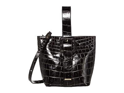 Brahmin Veil Faith Shoulder Bag (Black) Shoulder Handbags