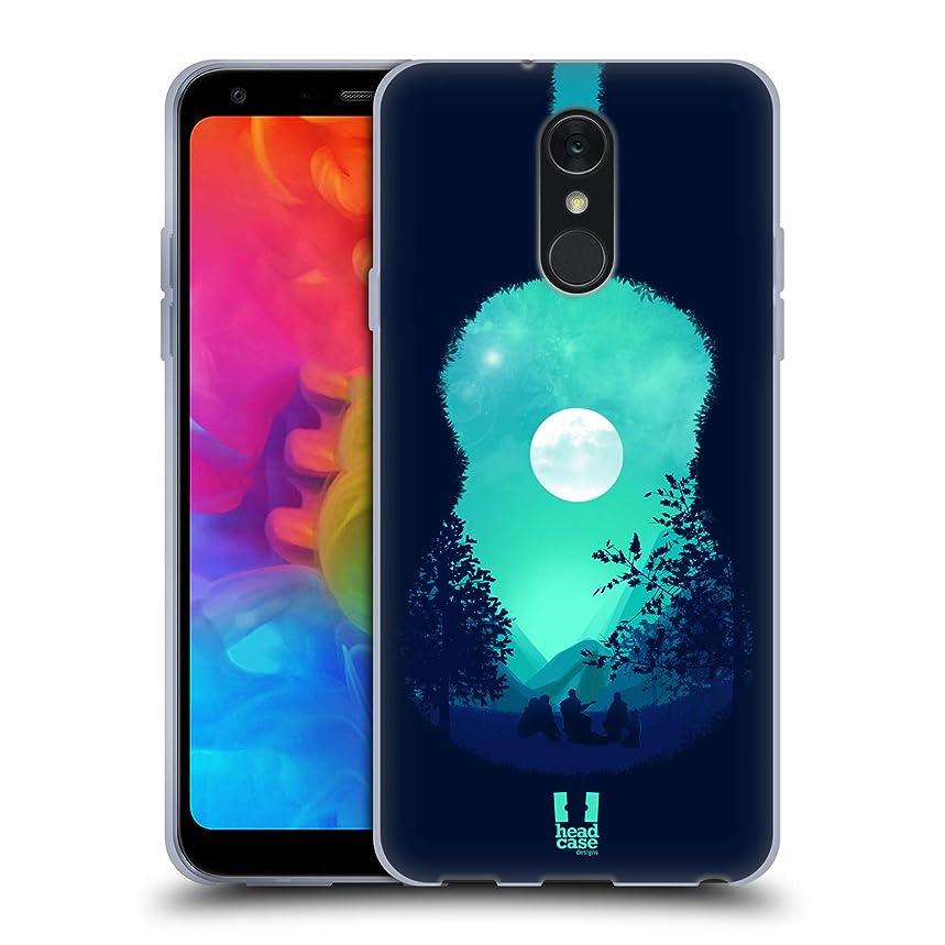 Head Case Designs Guitar Summer Memories Soft Gel Case for LG Q7 / Q7 Plus (2018)