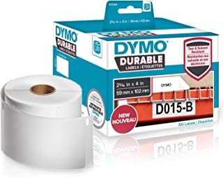 DYMO Label Writer Durable Polypropylene Label, 59 mm x 102 mm, White, 300 Count