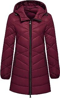Wantdo Women's Hooded Packable Down Jacket Light Weight Hip-Length Puffer Coat