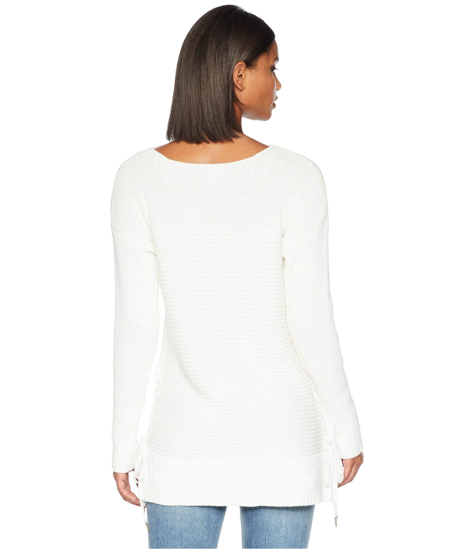 Kensie Ks0k5821 Cotton Yarn Tube Combo Sweater Ivory Cloud AwFpBvAqx