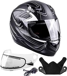 Typhoon Helmets Adult Full Face Snowmobile Winter Helmet With Heated Face Shield DOT (Grey, XXL)