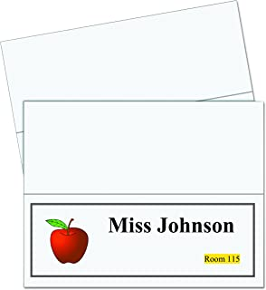 """""""C-Line Printer-Ready Scored Name Tent Cards, 11 x 4-1/4 Inches (Folded Size), 8-1/2"""""""" x 11"""""""" White Cardstock Sheets, Box ..."""