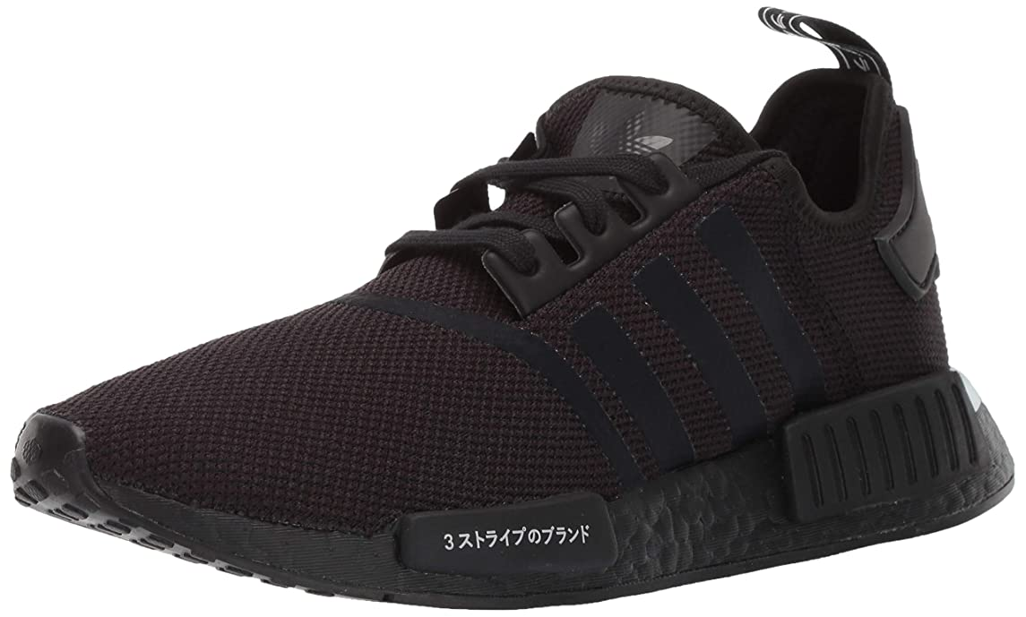 adidas Originals Men's NMD_R1 Running Shoe, Black/White, 9 M US