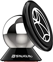 Magnetic Phone Car Mount, SK SYUKUYU Universal Car Phone Mount for Dashboard,Cell Phone Holder for Car 360° Adjustable Compatible with iPhone Xs Max XR X 8 7 6S 6 Plus Samsung Huawei MI LG and More