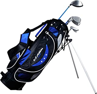 LEZAX(レザックス) U.S.Athlete ジュニアゴルフセット 9-12歳 ブルータイプ USCS-5755 BL       シャフト:ジュニア用軽量カーボンシャフト ライ角(1W):63度
