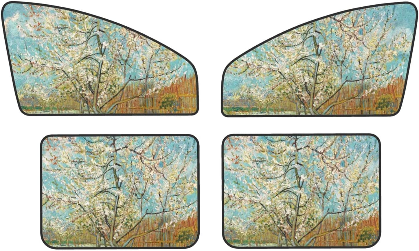 Spring Tree Max 68% OFF Car Window Sun Shade from Pack Reduce - 4 Ranking TOP4 Damage