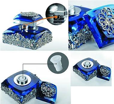Alien Storehouse Car Perfume Crystal Car Air Freshener Perfume Bottle for Car Creative [Blue]