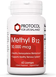 Protocol For Life Balance - Methyl B12 10,000 mcg - Supports Homocysteine Metabolism and Healthy Nervous System, Energy Bo...