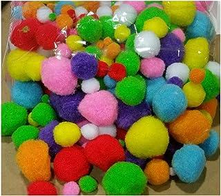 LN /_ LC /_ 100PCS Moelleux Craft Pompons Boules couleur de 10 pompons sur 15 mm À faire soi-même SPE