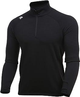 Descente Men's Warm Half-Zip Quick Dry Long Sleeve Running Shirt