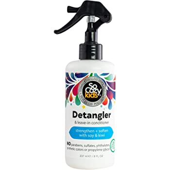 SoCozy Detangler | Leave-In Conditioner Spray | For Kids Hair | Strengthens and Softens | 8 fl oz | No Parabens, Sulfates, Synthetic Colors or Dyes