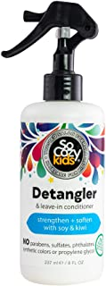 SoCozy Detangler | Leave-In Conditioner Spray | For Kids Hair | Strengthens and Softens | 8 fl oz | No Parabens, Sulfates,...