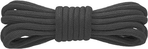 Kilter Lacets Ronds 100% Coton de Haute Qualité, pour Baskets, Chaussures Habillées et Bottes - ø 4 mm