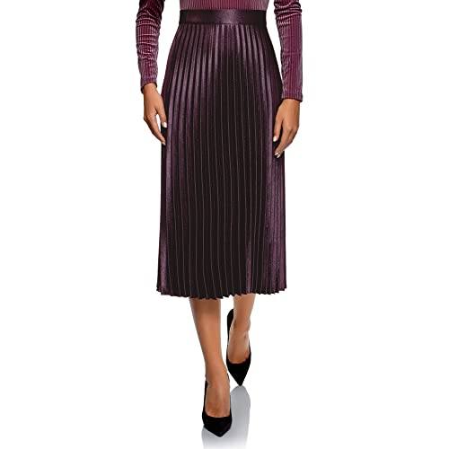 eaf2679ab oodji Collection Women's Long Accordion Pleated Skirt
