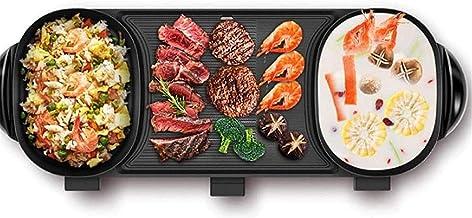 Grill électrique portable, Safe Cookware Fondue Fondue Friteuses Mén yewares Grillades d'intérieur, Pot à usage multi-usag...