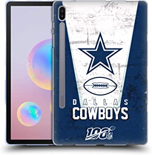 Official NFL Banner 100th 2019/20 Dallas Cowboys Soft Gel Case Compatible for Samsung Galaxy Tab S6 (2019)
