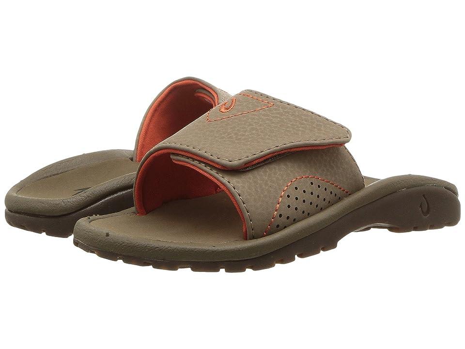 OluKai Kids Nalu Slide (Toddler/Little Kid/Big Kid) (Fossil/Mustang) Boys Shoes