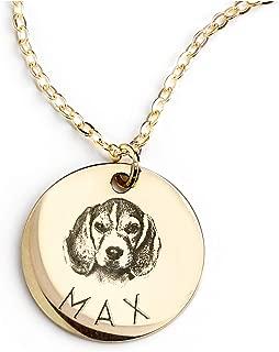 dog portrait necklace