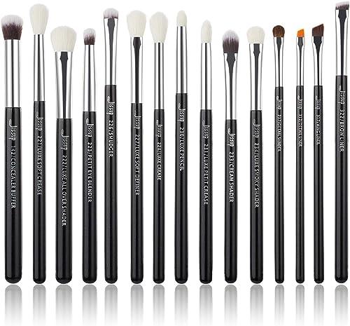 Jessup T177 Lot de 15 pinceaux de maquillage professionnels, outils cosmétiques, pour eyeliner, ombre à paupières, ma...