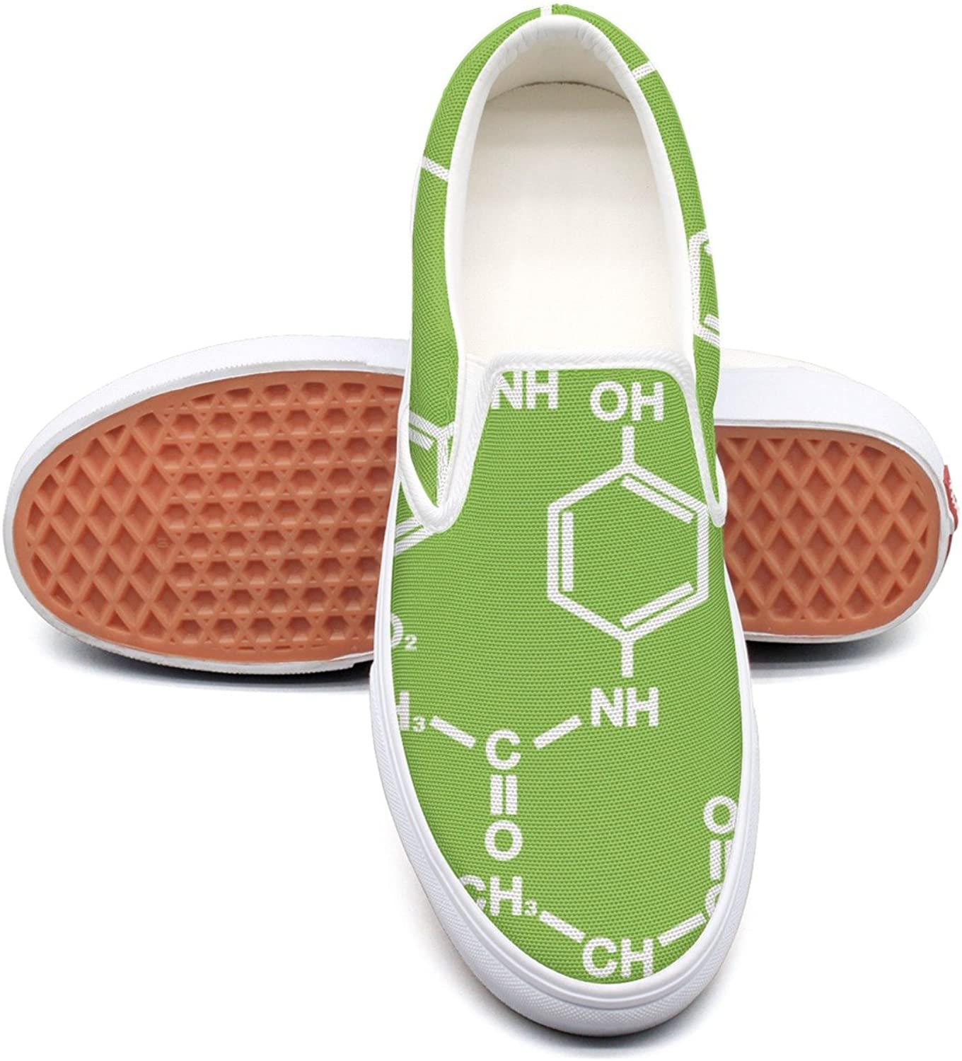 SEERTED Chemistry Formula Pattern Canvas Sneakers for Women