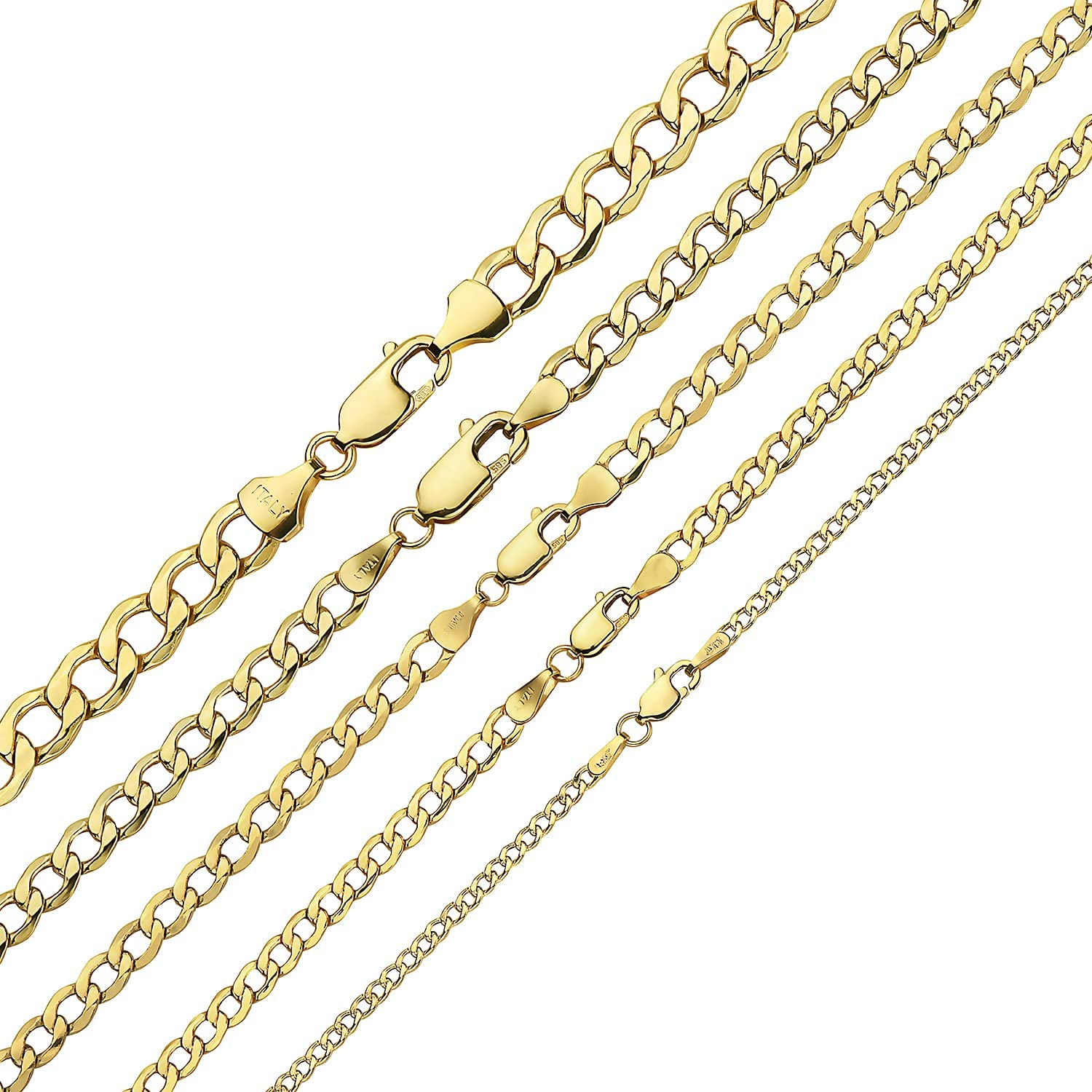 14K Gold 2.5MM 4MM 5MM 6.5MM Chain Nec Selling and selling 9MM Cuban Curb 7.5MM Super sale