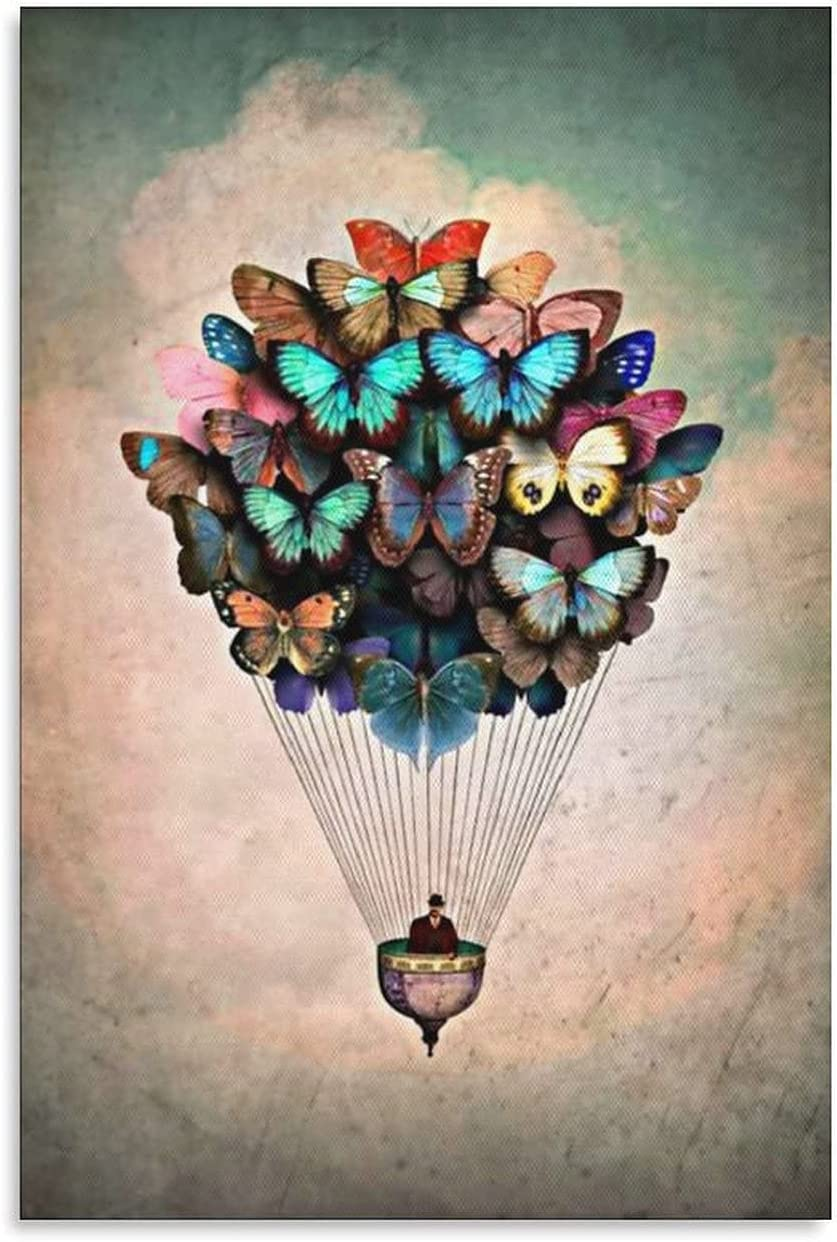 WAWSN Abstract Art 67% OFF of fixed price Butterflies Colorful security Flowers Butterflies3 and