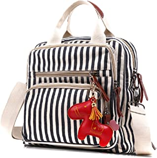 Messenger Bag, Urmiss Vintage Small Canvas Crossbody Bag Backpack Tote Handbag